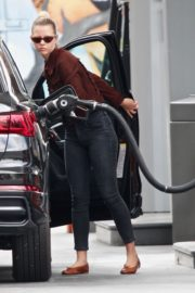 Mia Goth at a Gas Station in Los Angeles 2020/06/08 2