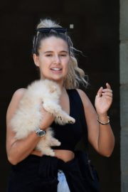 Molly-Mae Hague and Tommy Fury Out with Their Dog in Manchester 2020/06/03 1