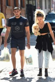 Molly-Mae Hague and Tommy Fury Out with Their Dog in Manchester 2020/06/03 2