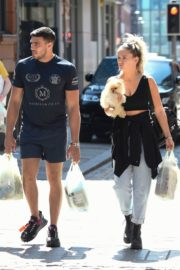 Molly-Mae Hague and Tommy Fury Out with Their Dog in Manchester 2020/06/03 5