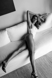 Natalie Roser at a Black and White Photoshoot 2020 Issue 2