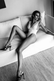 Natalie Roser at a Black and White Photoshoot 2020 Issue 6
