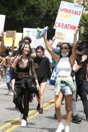 Nikita Dragun at Black Lives Matter Protest in Los Angeles 2020/06/02 1