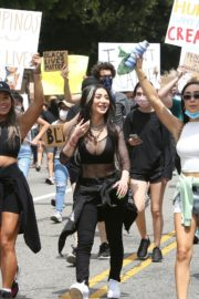 Nikita Dragun at Black Lives Matter Protest in Los Angeles 2020/06/02 2