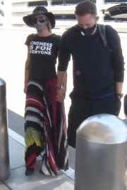 Paris Hilton and Carter Milliken Reum at LAX Airport in Los Angeles 2020/06/11 2