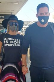 Paris Hilton and Carter Milliken Reum at LAX Airport in Los Angeles 2020/06/11 10