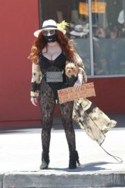 Phoebe Price at Black Lives Matter Protest in Los Angeles 2020/06/07 7