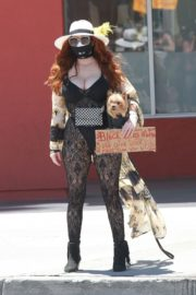 Phoebe Price at Black Lives Matter Protest in Los Angeles 2020/06/07 8