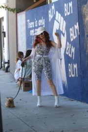 Phoebe Price at BLM Mural in Los Angeles 2020/06/09 1
