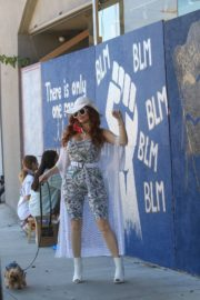 Phoebe Price at BLM Mural in Los Angeles 2020/06/09 2