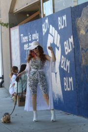 Phoebe Price at BLM Mural in Los Angeles 2020/06/09 3