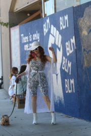 Phoebe Price at BLM Mural in Los Angeles 2020/06/09 4