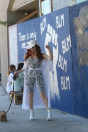 Phoebe Price at BLM Mural in Los Angeles 2020/06/09 5