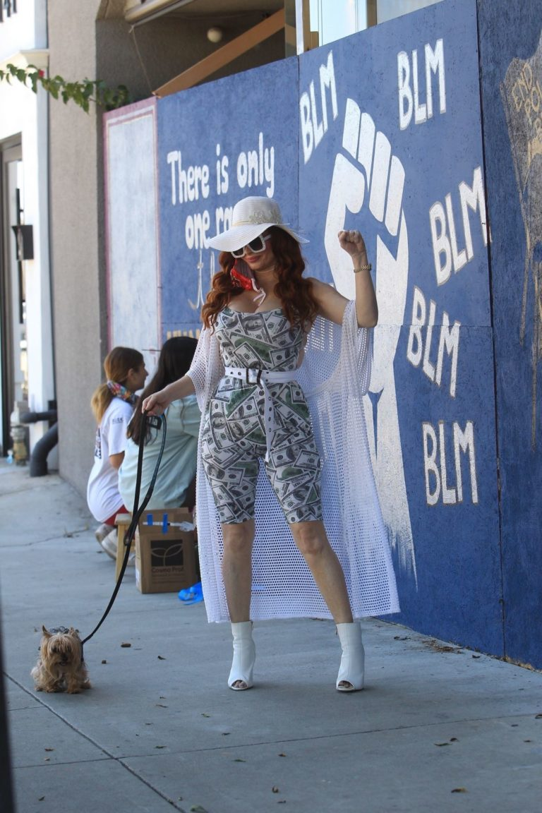 Phoebe Price at BLM Mural in Los Angeles 2020/06/09 6