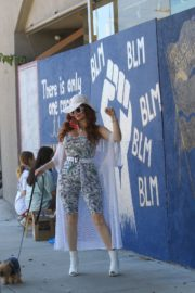 Phoebe Price at BLM Mural in Los Angeles 2020/06/09 7