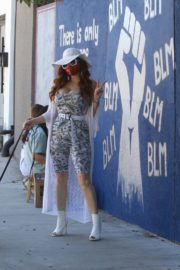 Phoebe Price at BLM Mural in Los Angeles 2020/06/09 8
