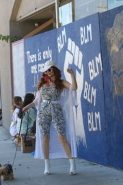 Phoebe Price at BLM Mural in Los Angeles 2020/06/09 9
