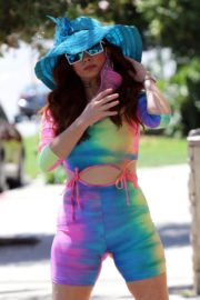 Phoebe Price in a Colorful Outfit Out in Los Angeles 2020/06/08 8