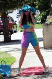 Phoebe Price in a Colorful Outfit Out in Los Angeles 2020/06/08 9