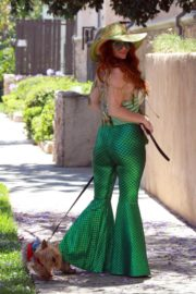 Phoebe Price in a Mermaid Outfit Out with Her Dog in Los Angeles 2020/06/12 7