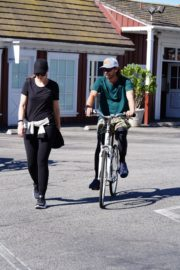 Pregnant Christina Schwarzenegger Riding Her Bike Out in Brentwood 2020/06/09 2