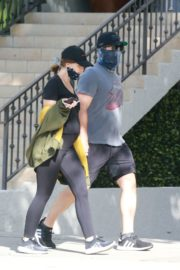 Pregnant Katherine Schwarzenegger and Chris Pratt Out in Santa Monica 2020/06/01 2