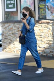 Rebecca Gayheart in Denim Overalls at Shake Shack in Los Angeles 2020/06/19 4