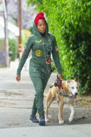 Regina King Out with Her Dog in Los Angeles 2020/06/05 2