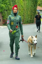 Regina King Out with Her Dog in Los Angeles 2020/06/05 3