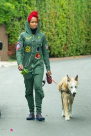 Regina King Out with Her Dog in Los Angeles 2020/06/05 4