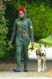 Regina King Out with Her Dog in Los Angeles 2020/06/05 5
