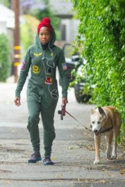 Regina King Out with Her Dog in Los Angeles 2020/06/05 7