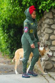 Regina King Out with Her Dog in Los Angeles 2020/06/05 10