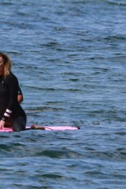 Robin Wright Surfing at a Beach in Malibu 2020/06/12 7