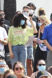 Rumer Willis at BLM Rally in West Hollywood 2020/06/19 1