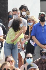 Rumer Willis at BLM Rally in West Hollywood 2020/06/19 8