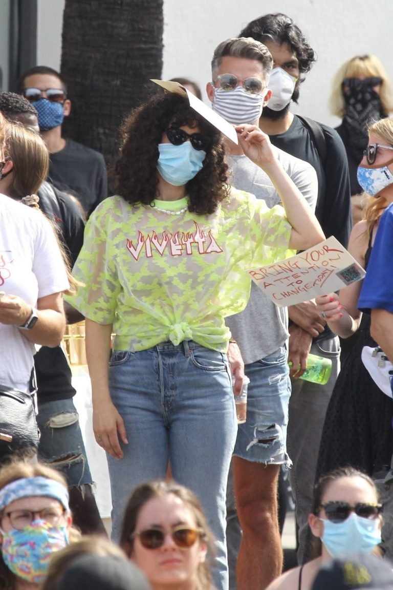 Rumer Willis at BLM Rally in West Hollywood 2020/06/19 10