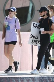 Sara Sampaio and Juliana Herz at a Protest in Los Angeles 2020/06/06 2