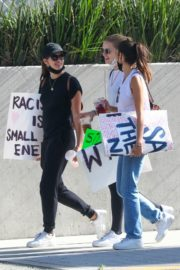 Sara Sampaio and Juliana Herz at a Protest in Los Angeles 2020/06/06 9