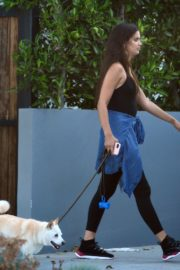 Sara Sampaio Out with Her Dog Kyta in Los Angeles 2020/06/07 2