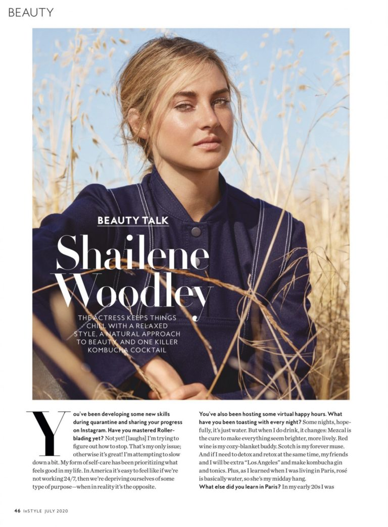 Shailene Woodley in Instyle Magazine, July 2020 2
