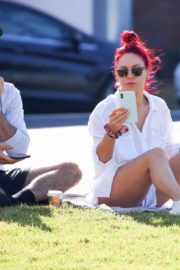 Sharna Burgess Relaxing at Bondi Beach 2020/05/29 4