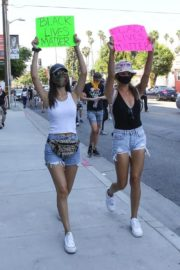 Victoria Justice and Madison Reed Join a Black Lives Matter Protest in Los Angeles 2020/06/03 1