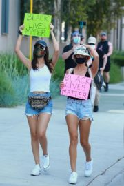 Victoria Justice and Madison Reed Join a Black Lives Matter Protest in Los Angeles 2020/06/03 2