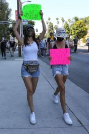 Victoria Justice and Madison Reed Join a Black Lives Matter Protest in Los Angeles 2020/06/03 4
