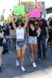 Victoria Justice and Madison Reed Join a Black Lives Matter Protest in Los Angeles 2020/06/03 6