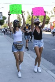 Victoria Justice and Madison Reed Join a Black Lives Matter Protest in Los Angeles 2020/06/03 7