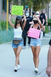 Victoria Justice and Madison Reed Join a Black Lives Matter Protest in Los Angeles 2020/06/03 9