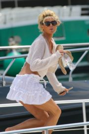 Victoria Silvstedt in Bikini at a Yacht in Saint Tropez 2020/06/01 1