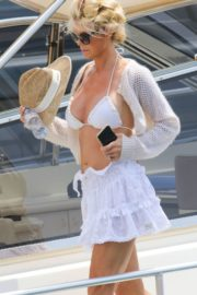 Victoria Silvstedt in Bikini at a Yacht in Saint Tropez 2020/06/01 10